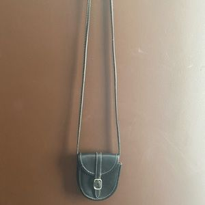 Roots genuine leather cross body bag